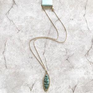 Aqua Marine Sphere Necklace